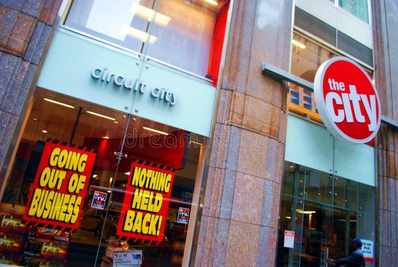 Circuit City - een ander faillissement stock fotografie