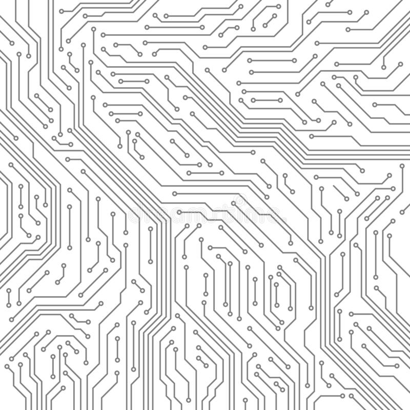 Free Circuit. Computer Motherboard, Microchip Electronic Technology. Hardware Circuits Board Line Vector Texture Stock Photography - 189119662