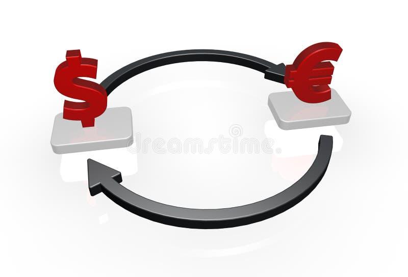 Circuit d'argent illustration stock