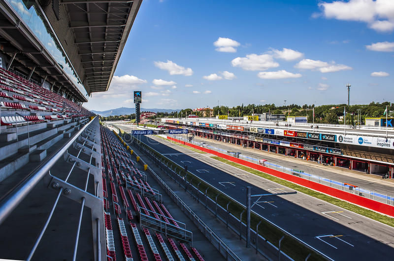 Circuit de Catalunya στοκ εικόνες