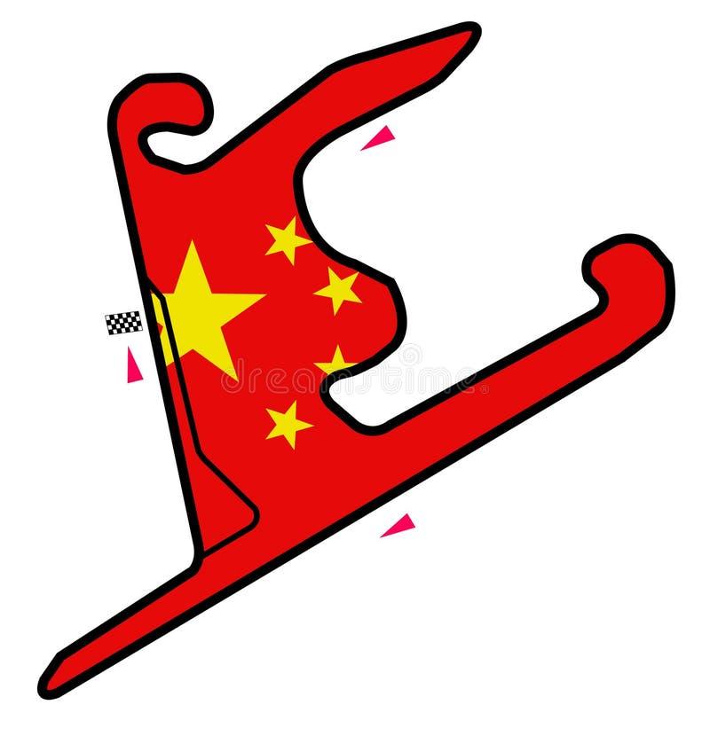 Circuit de la Chine : Formule 1 illustration stock