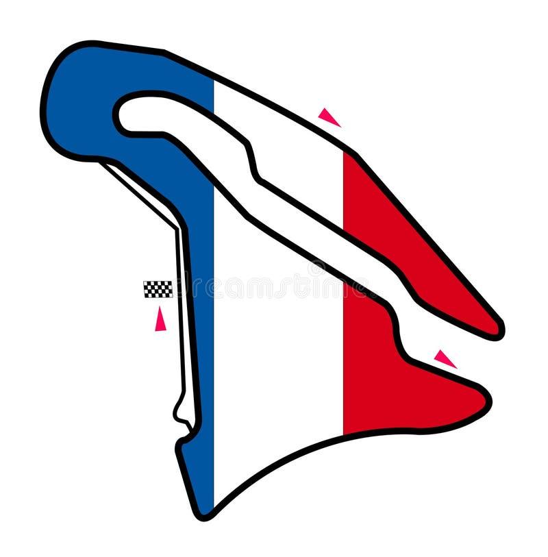 Circuit de la France : Formule 1 illustration libre de droits