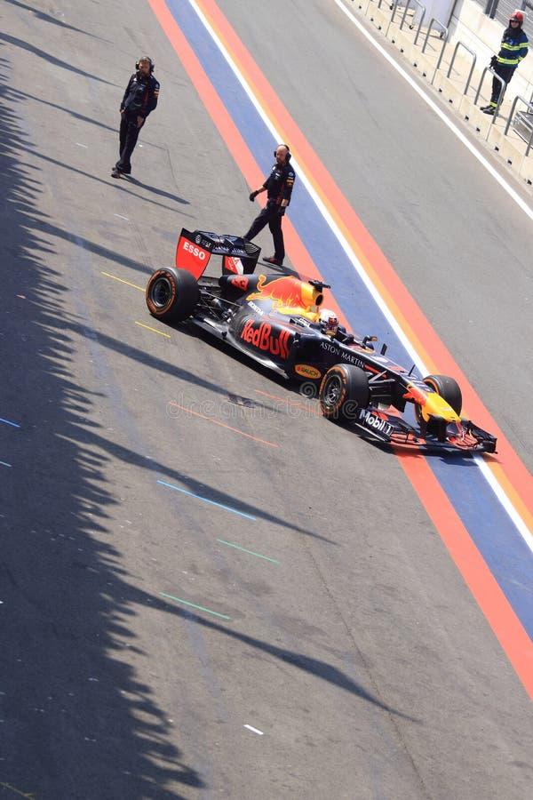 Circuit de zandvoort de ruelle de pitt de voiture de course de la formule 1 photographie stock