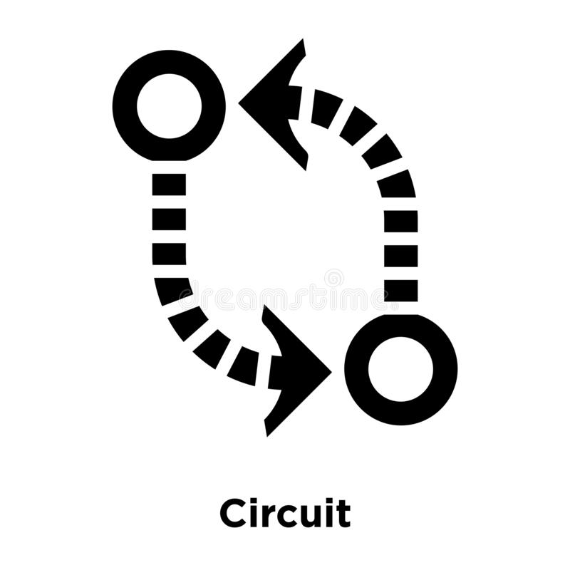 Circuit icon vector isolated on white background, logo concept o stock illustration