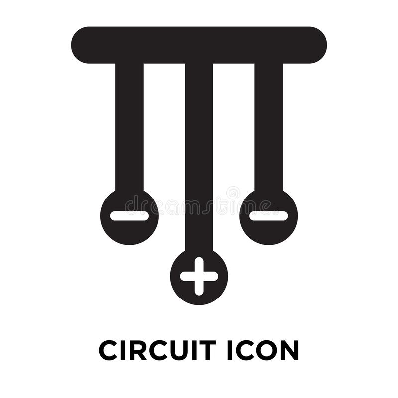 Circuit icon vector isolated on white background, logo concept o vector illustration