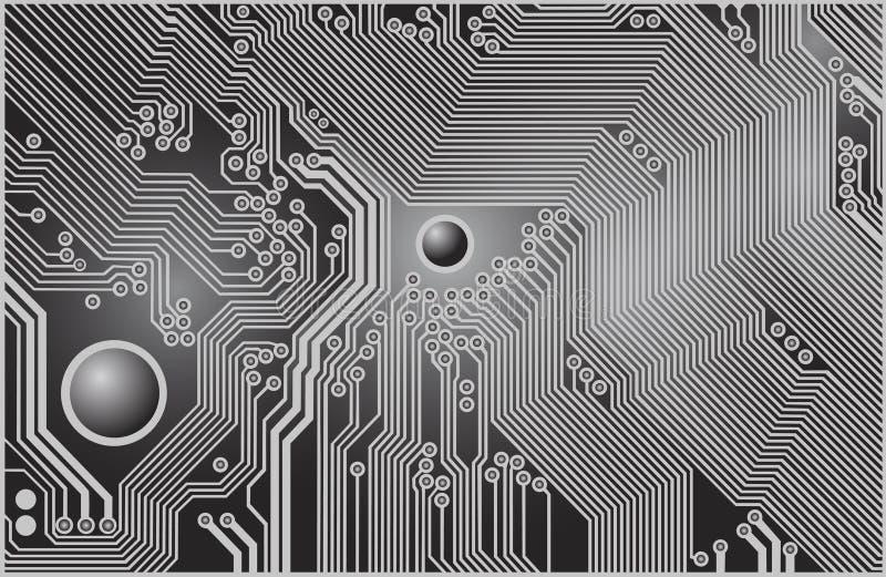 Circuit imprimé illustration de vecteur