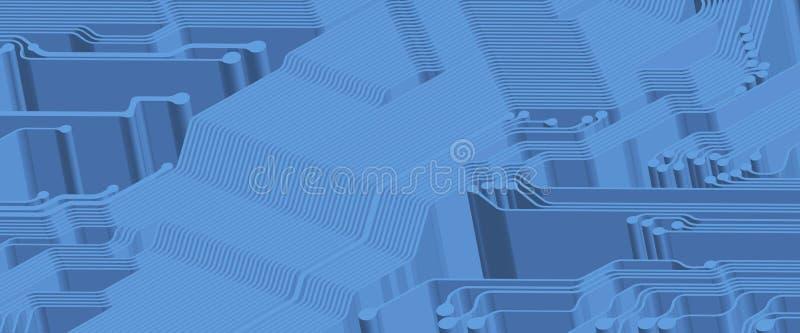 Circuit imprimé illustration libre de droits
