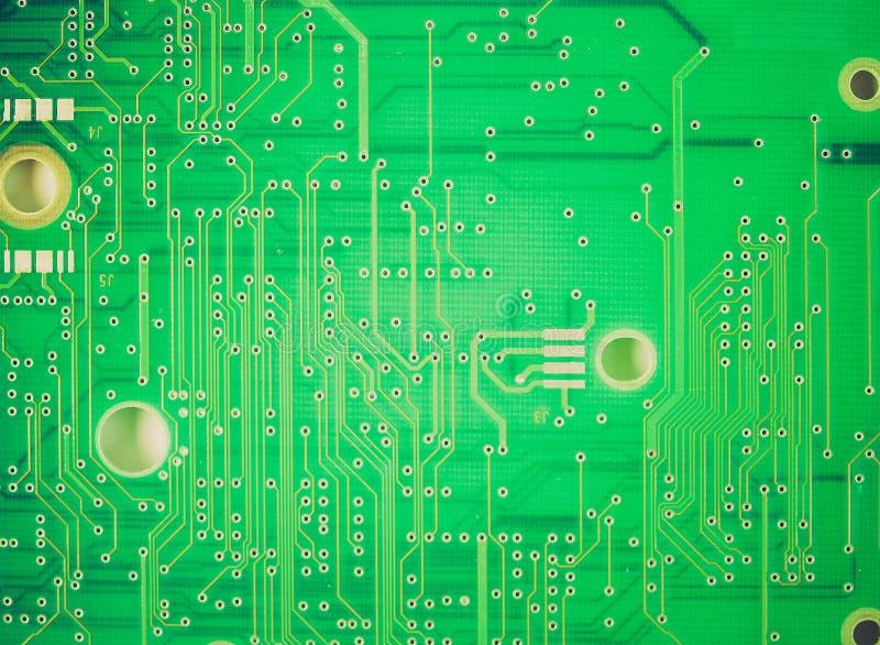 Circuit imprimé de rétro sembler photographie stock