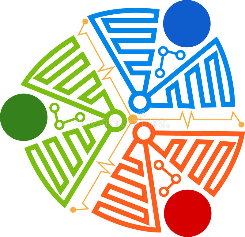 Download Circuit logo stock vector. Illustration of development - 34411462