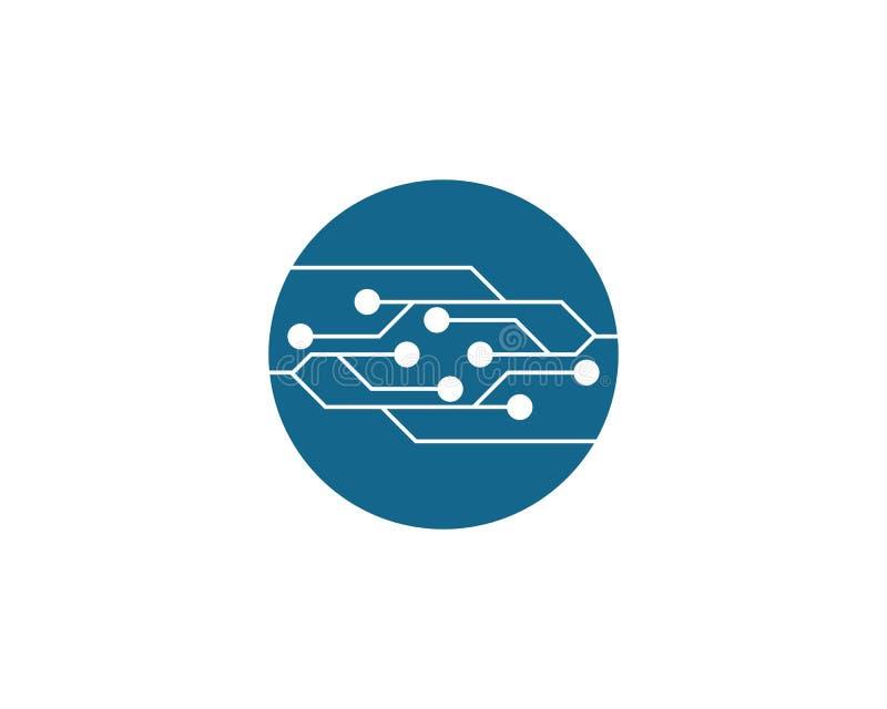Circuit Logo Template illustration de vecteur