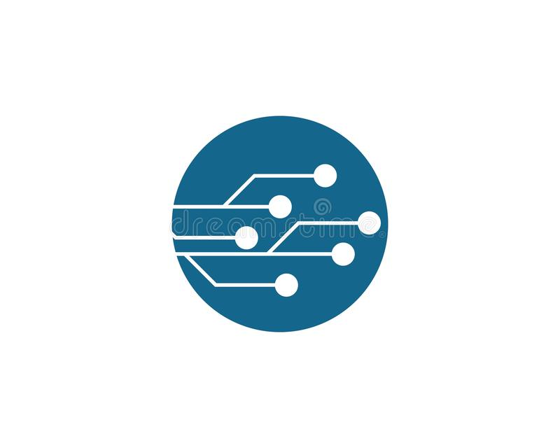 Circuit Logo Template illustration stock