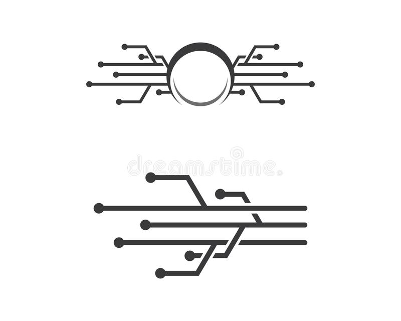 Circuit logo template stock illustration