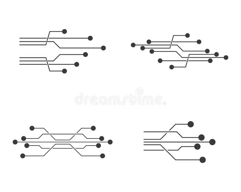 circuit logo template stock illustration  illustration of communication