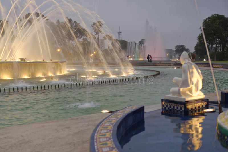 Circuit magique Lima Pérou de l'eau photographie stock libre de droits