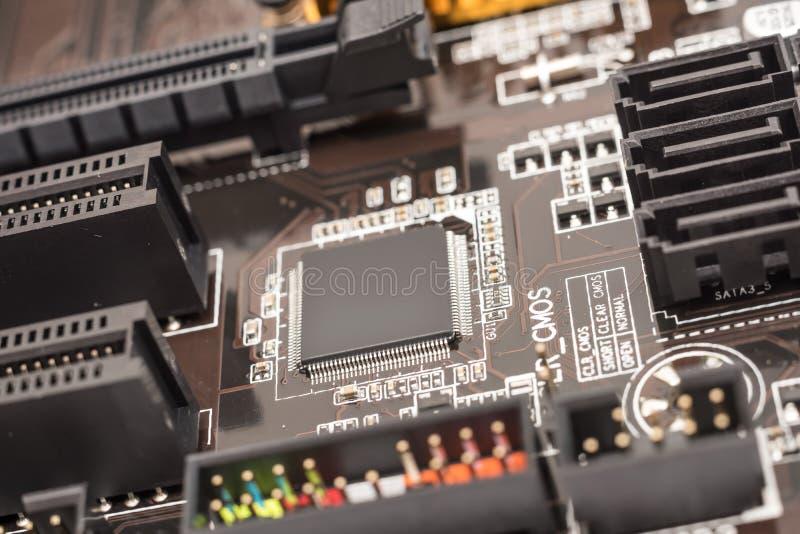 Circuit micro de jeu de puces d'ordinateur image stock