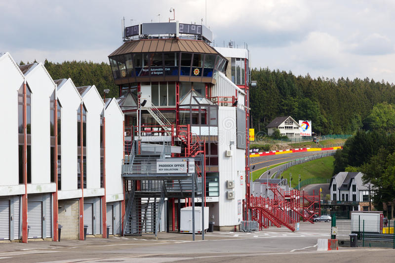 Circuit Spa-Francorchamps control tower royalty free stock photo