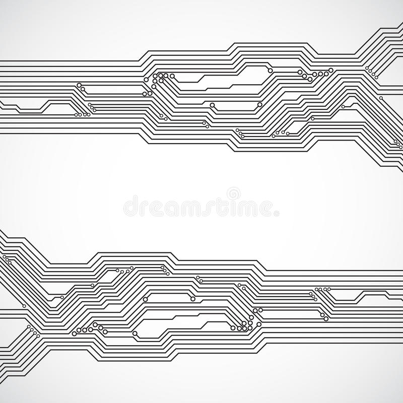 Circuit stiger ombord bakgrund vektor illustrationer