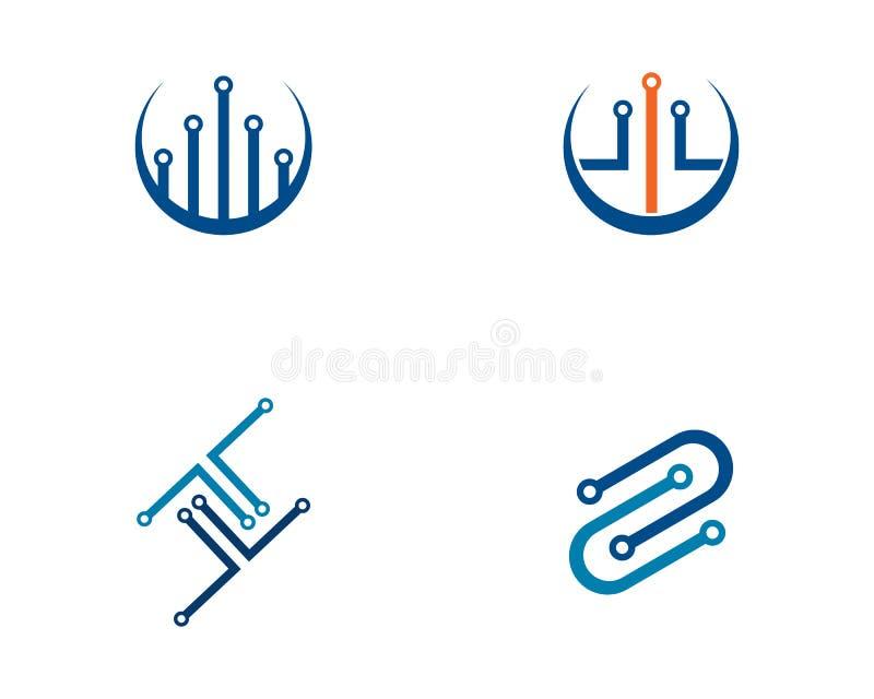 circuit technology logo template vector icon illustration vector illustration