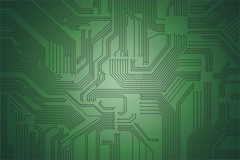Circuit texture vector. Highly - detailed circuit - board vector illustration