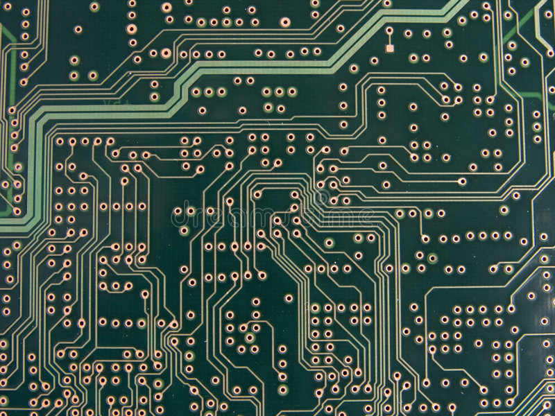 Circuit Traces and Vias stock images