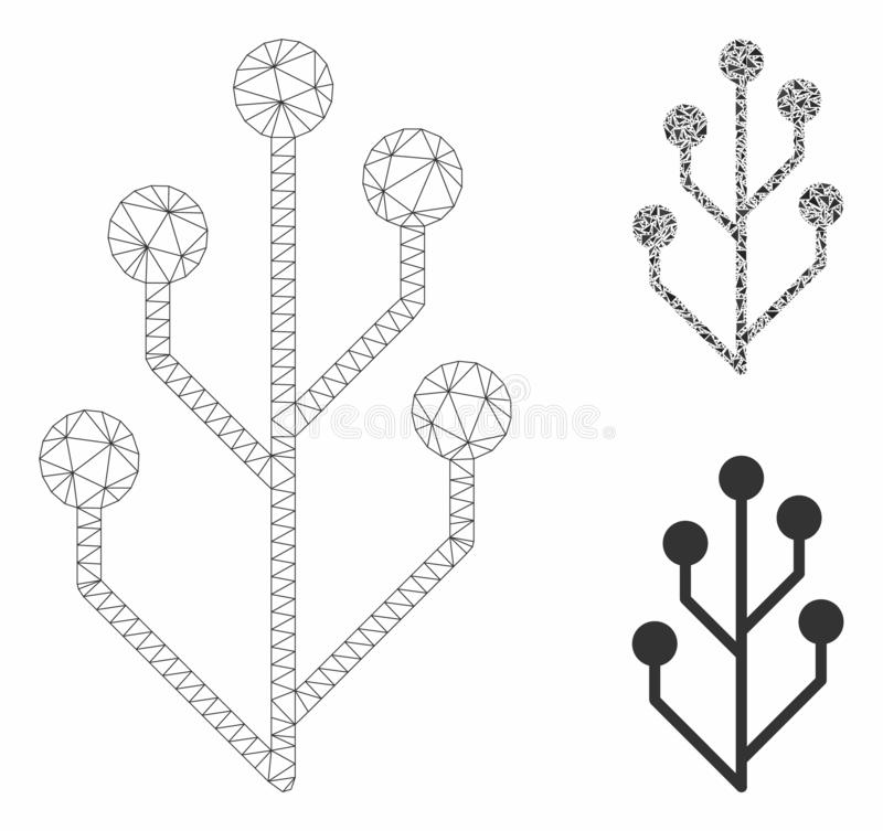 vector circuit tree stock vector  illustration of emblem