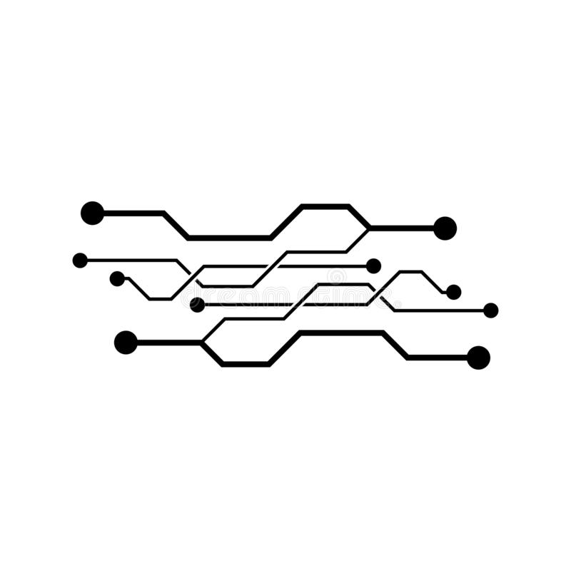 Circuit Vector Icon Illustration Design Stock Vector ...