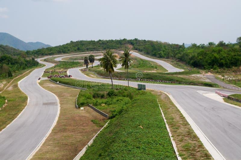 Circuit vide de chemin en Thaïlande images stock