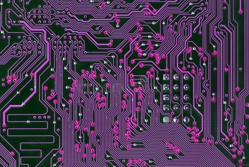 circuite la carte mère d'ordinateur images stock