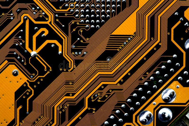 Circuiti di una scheda madre immagini stock