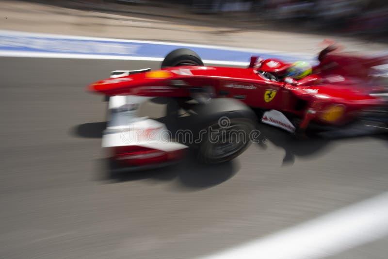 Circuito 2010 da rua de F1 Valença fotografia de stock royalty free