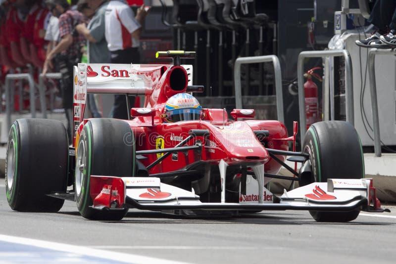 Circuito 2010 da rua de F1 Valença imagens de stock royalty free