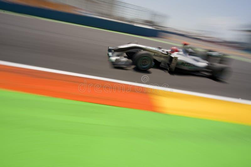 Circuito 2010 da rua de F1 Valença imagem de stock