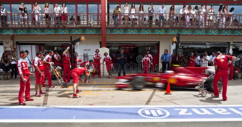 Circuito 2010 de la calle de F1 Valencia fotografía de archivo libre de regalías
