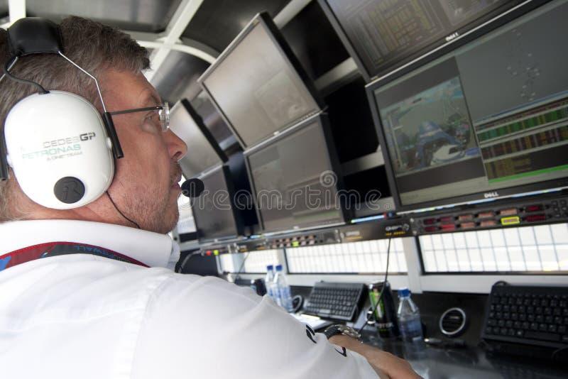 Circuito 2010 della via di F1 Valencia fotografie stock libere da diritti