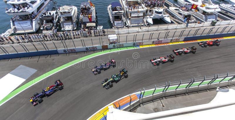 Circuito 2012 de la calle de Valencia imagen de archivo