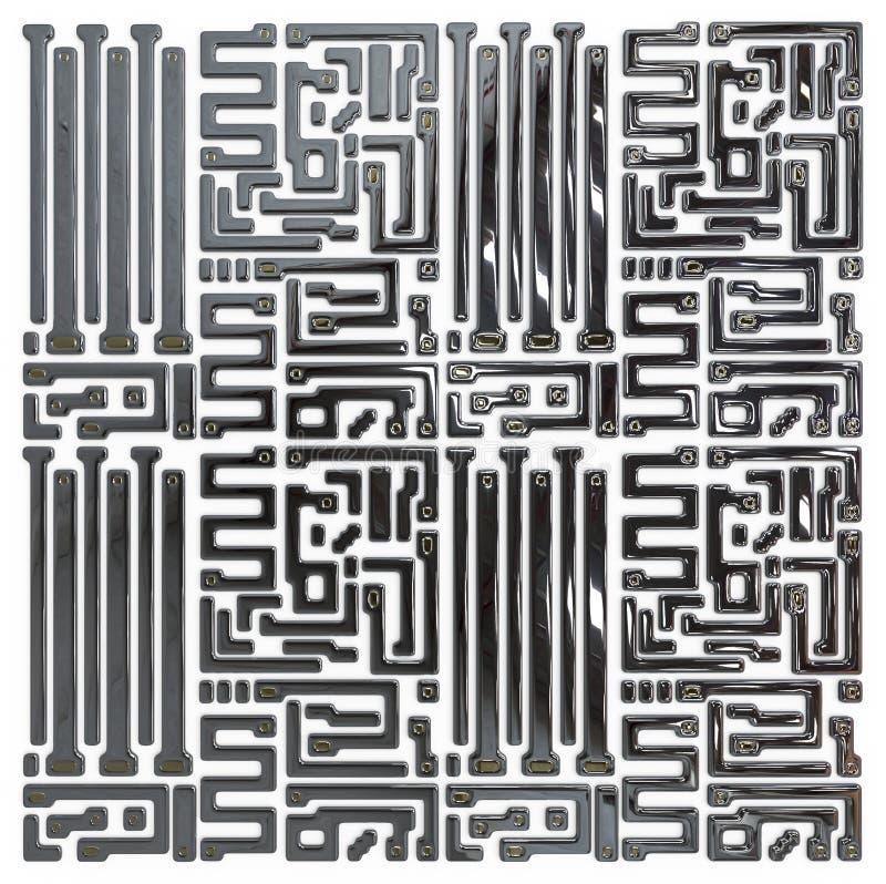 Circuito abstracto dentro del microchip ilustración del vector