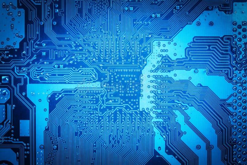 Circuito blu del computer fotografia stock libera da diritti