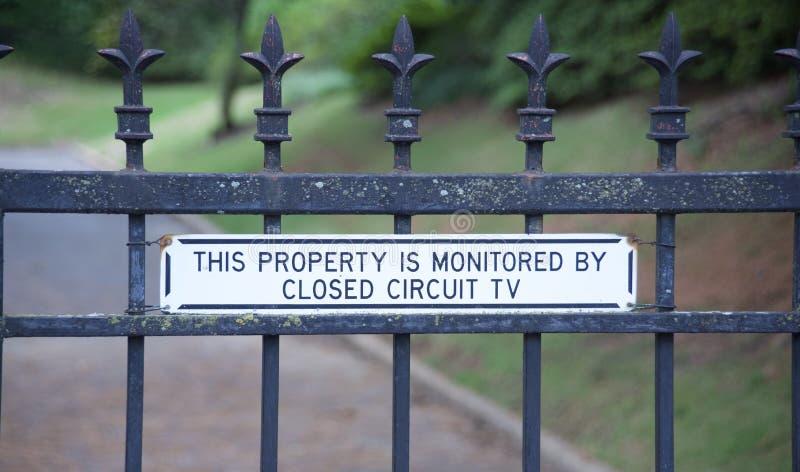 Circuito cerrado de la cámara de seguridad fotos de archivo libres de regalías