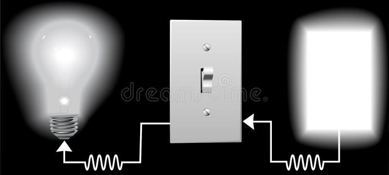 Circuito da fiação da ampola ilustração stock