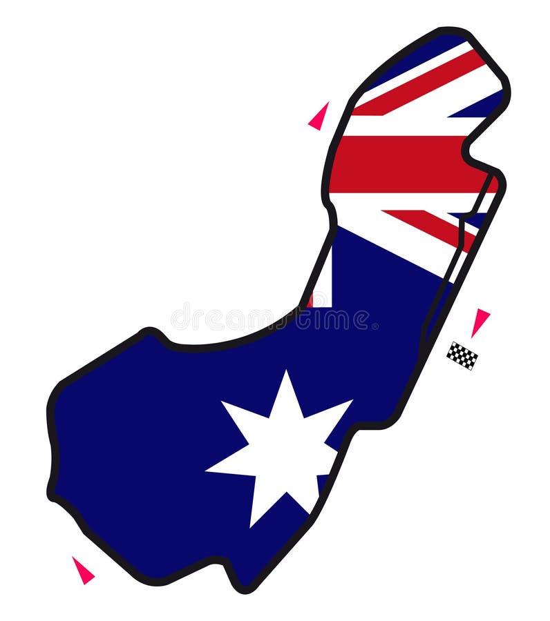 Circuito de Austrália: Fórmula 1 ilustração royalty free