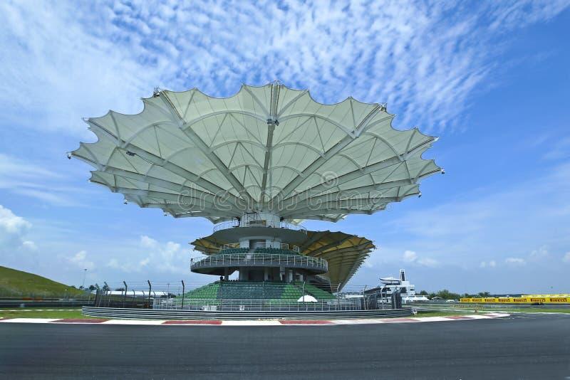 Circuito de carreras del circuito internacional de Sepang imágenes de archivo libres de regalías