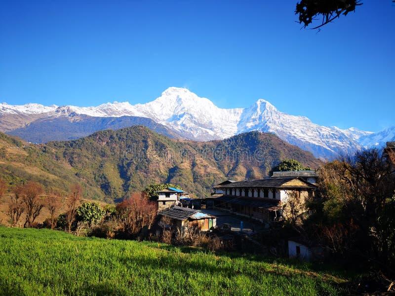 Circuito de Ghandruk Annapurna Basecamp imagenes de archivo
