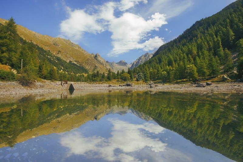 Circuito dei laghi del estrop, il parco di Mercantour, dipartimento del Alpes-Maritimes immagini stock