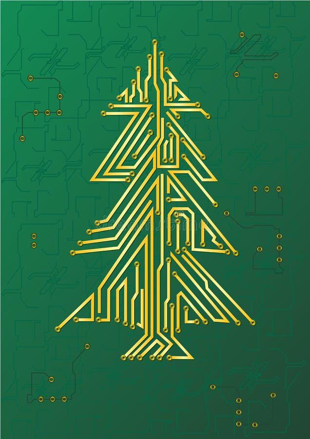Circuito del árbol de navidad ilustración del vector