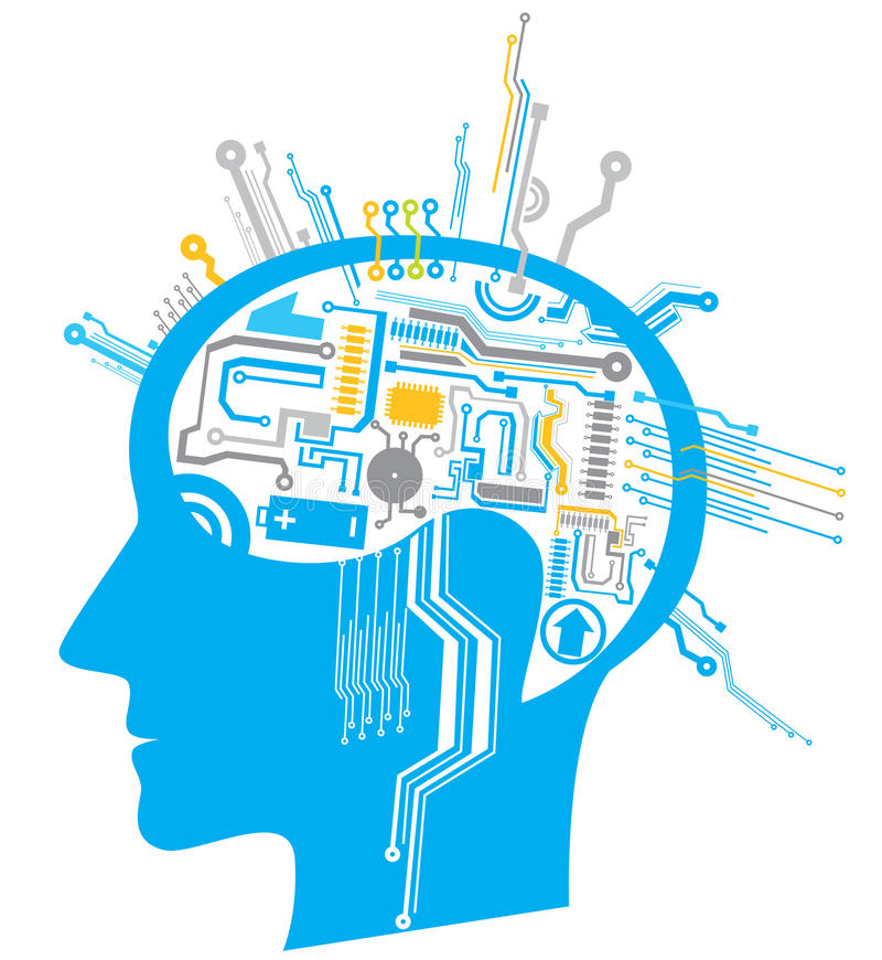 Circuito del cerebro imagen de archivo