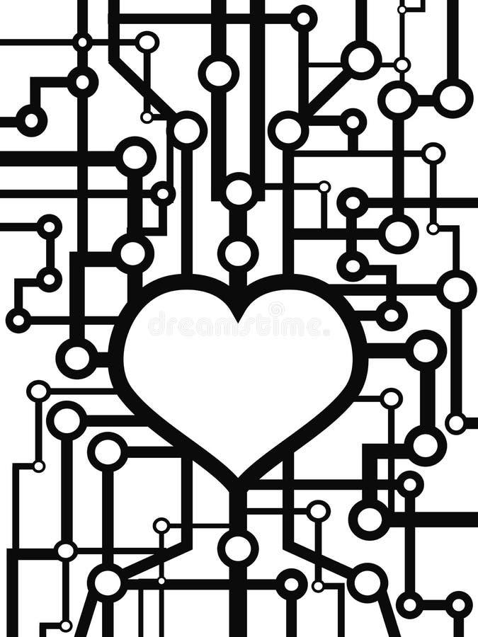 Circuito del cuore illustrazione vettoriale