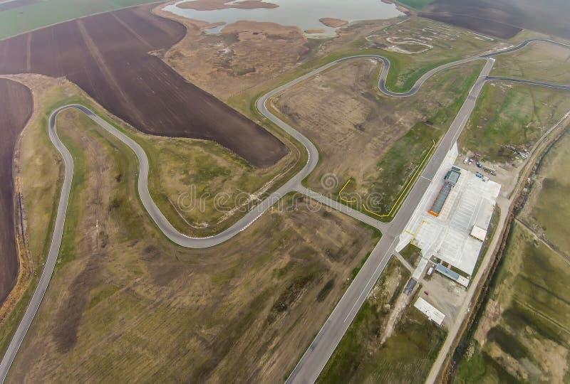 Circuito di corsa, vista aerea immagini stock libere da diritti