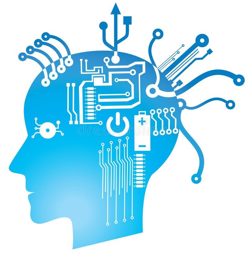 Circuito do cérebro ilustração stock