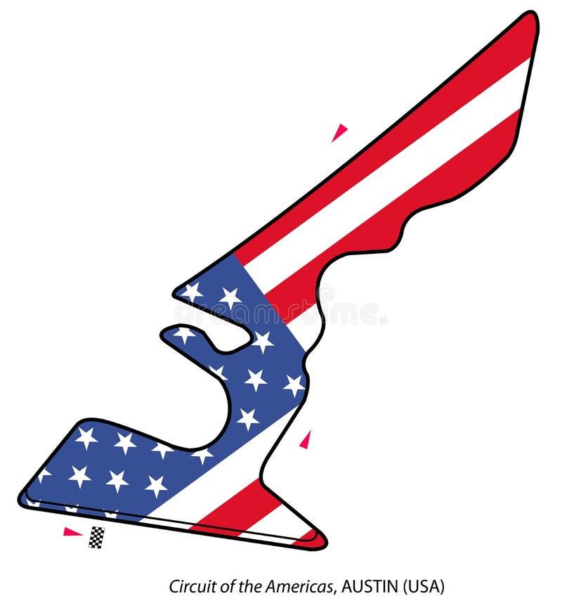 Circuito dos EUA: Fórmula 1 ilustração do vetor