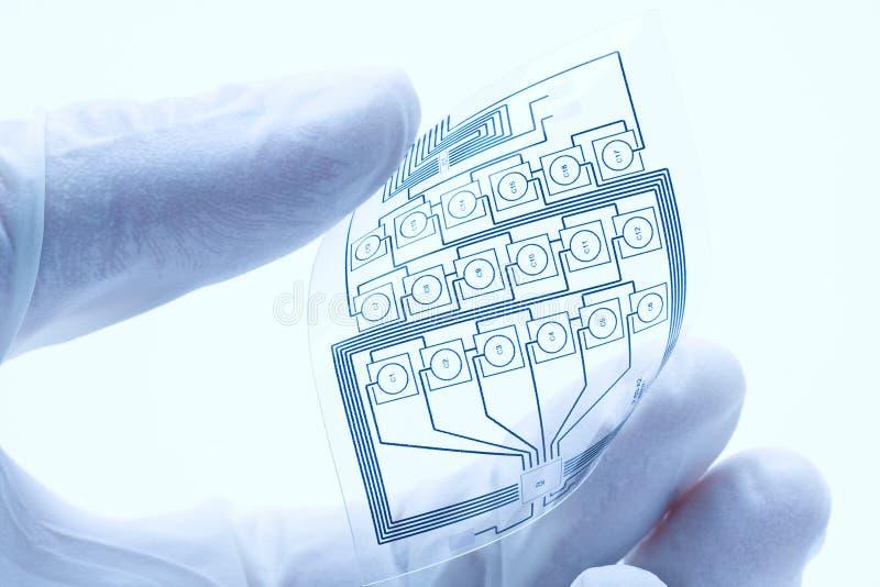 Circuito eléctrico impreso flexible fotos de archivo libres de regalías